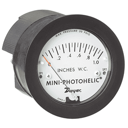 Picture of Dwyer Mini-photohelic differential pressure switch series MP