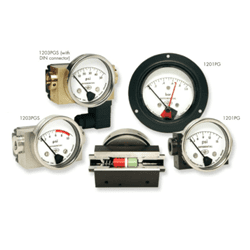 Picture of Orange differential pressure gauge series 1201