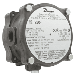 Picture of Dwyer differential pressure switch series 1950