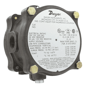 Picture of Dwyer ATEX differential pressure switch series 1950G