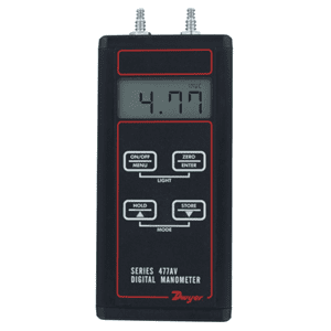 Picture of Dwyer handheld digital manometer series 477AV