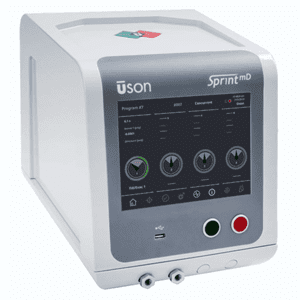 Picture of Uson pressure decay laektester with flow test series Sprint-mD